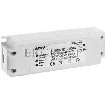 Zasilacz LED 12V DC 50W 4,2A IP20 OR-ZL-1616-208224