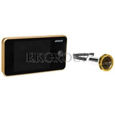 Elektroniczny wizjer do drzwi 3,2cala z szerokokątnym obiektywem złoty OR-WIZ-1104/C-218455