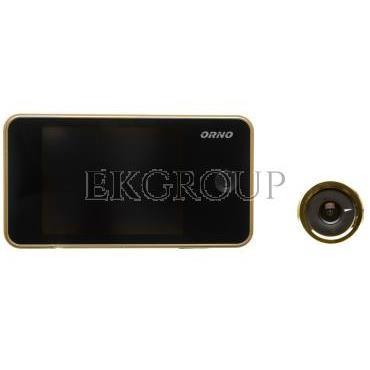 Elektroniczny wizjer do drzwi 3,2cala z szerokokątnym obiektywem złoty OR-WIZ-1104/C-218456