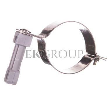 Uchwyt do rury spustowej fi 80mm nierdzewny z plastikiem 64.08/P NI /96420805/-218843