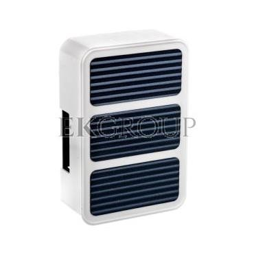 Dzwonek elektromechaniczny dwutonowy 85dB 230V AC biało/niebieski 103 BIA/NIE SUB10000333-215808