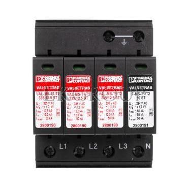 Odgromnik/ogranicznik przepięć typ 1/2 - VAL-MS-T1/T2 335/12.5/3 1 2800184-216615