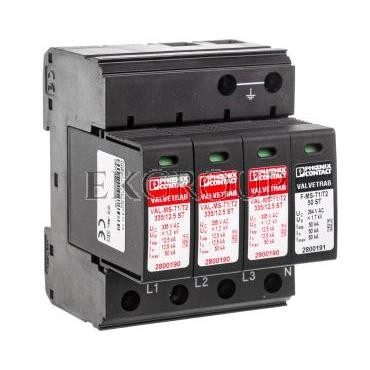 Odgromnik/ogranicznik przepięć typ 1/2 - VAL-MS-T1/T2 335/12.5/3 1 2800184-216616