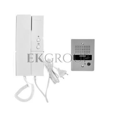 Zestaw domofonowy jednoabonentowy unifon zasilanie 230V DP-2HPR/DR-2GN-215476