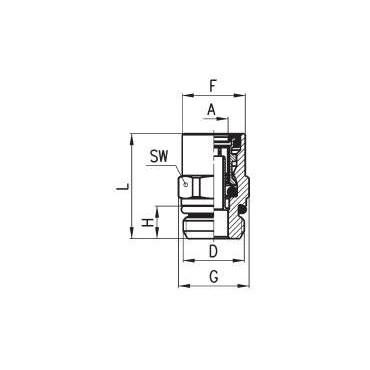 Złączka wtykowa C-TRUCK prosta model 9512
