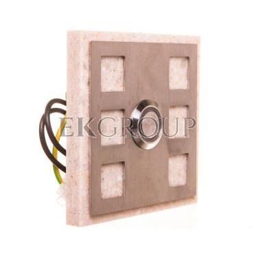 Przycisk dzwonkowy kwadratowy z podświetleniem beżowy 1A/250V PDK-251-BEZ YNS10000019-217109