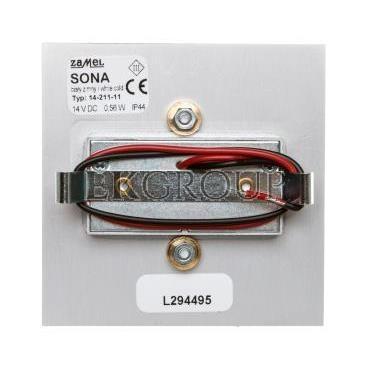 Oprawa LED SONA kwadratowa PT 14V DC ALU biała zimna 14-211-11 LED11421111-201616