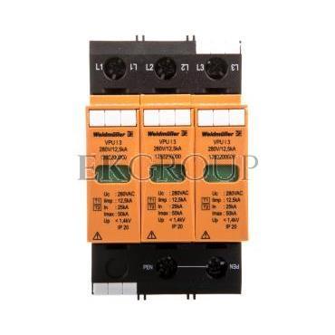 Ogranicznik przepięć typ 1 2 3P 12,5kA 1,4kV 280V VPU I 3 280V/12,5KA 1352200000-216582