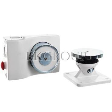 Elektrotrzymacz drzwiowy 24V DC 50kgf/490N biały, przekaźnik NC do kontroli statusu drzwi 13050-BSP 13050-BSP-218688
