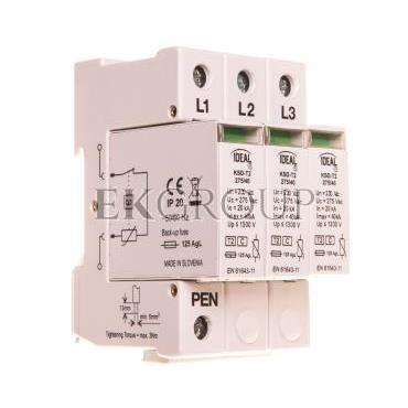 Ogranicznik przepięć typ C 3P 20kA 1,3kV KSD-T2 275/120 3P 23132-216594