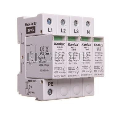 Ogranicznik przepięć typ C 3P N 20kA 1,3kV KSD-T2 275/160 3P N 23133-216778