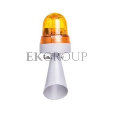 Sygnalizator akustyczno-optyczny żółty błyskowy 98dB 24V AC/DC IP65 425.320.75-217596