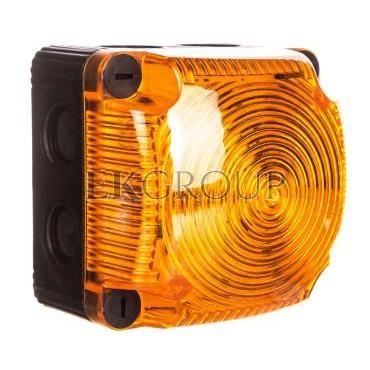 Sygnalizator ostrzegawczy żółty 24V DC LED błyskowy podwójny IP65 853.310.55-217517