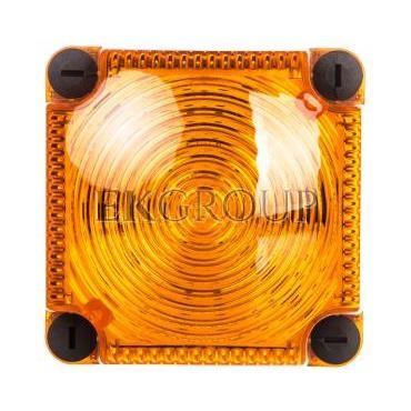 Sygnalizator ostrzegawczy żółty 24V DC LED błyskowy podwójny IP65 853.310.55-217518