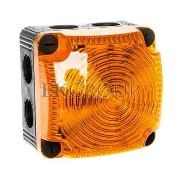 Sygnalizator ostrzegawczy żółty 24V DC LED stały IP65 853.300.55-217525
