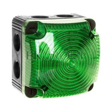 Sygnalizator ostrzegawczy zielony 115-230V AC LED błyskowy podwójny 853.210.60-217540