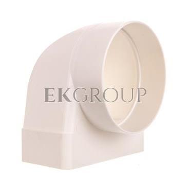 Kolanko łączniowe z łącznikiem wewnętrznym100mm białe 430-215080