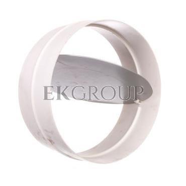 Łącznik kanałowy okrągły z zaworem zwrotnym 150mm biały 694-215084