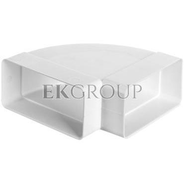 Kolanko poziome 120x60mm 90stopni białe WP450-215089