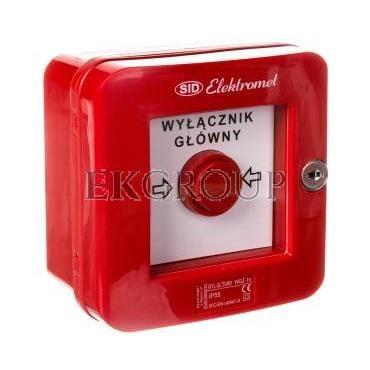 Wyłącznik alarmowy samoczynny natynkowy z zamkiem WGZ-1s IP-55 921490-216970