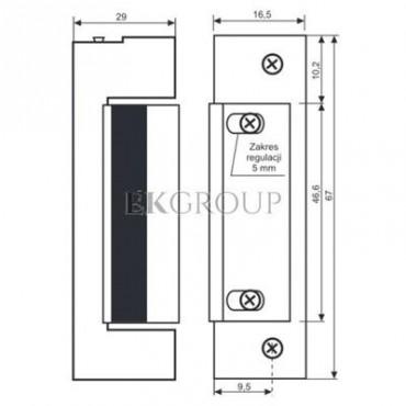 Elektrozaczep symetryczny NC Z pamięcią wewnętrzną 1433-12AC/DC* 19814-1203-218715