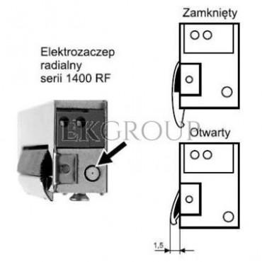 Elektrozaczep symetryczny NC Z wyłącznikiem 1420RF-12AC/DC 19814-1207-218724