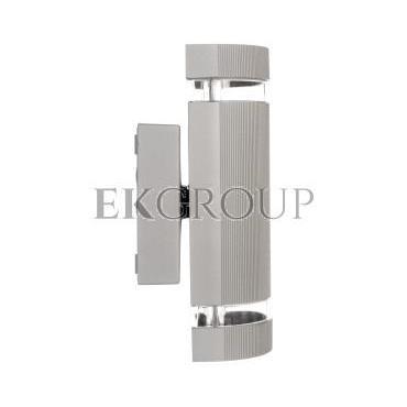 Oprawa ścienna dwukierunkowa SILVA GU10 max. 50W IP54 AC 220-240V 50/60Hz szara LD-SILVAGU10D-80-204144