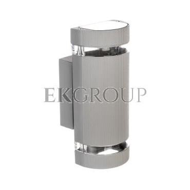 Oprawa ścienna dwukierunkowa SILVA GU10 max. 50W IP54 AC 220-240V 50/60Hz szara LD-SILVAGU10D-80-204145