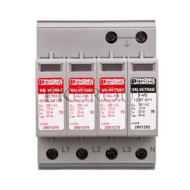 Ogranicznik przepięć typ 2 4P 20kA 1,6kV 335V VAL-MS 320/40/3 1 GY1 2801321-216821