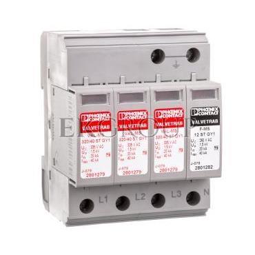 Ogranicznik przepięć typ 2 4P 20kA 1,6kV 335V VAL-MS 320/40/3 1 GY1 2801321-216822