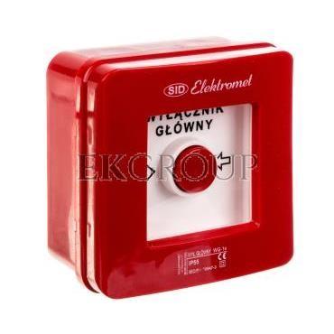 Wyłącznik alarmowy samoczynny natynkowy WG-1s IP-55 921440-216959