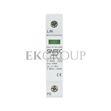 Ogranicznik przepięć C 1P 20kA SIMTEC SM20C/1-275 85101000-216806