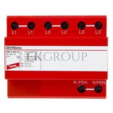 Ogranicznik przepięć B Typ 1 3P 100kA 4kV DEHNblock 3 255 H 900120-216475