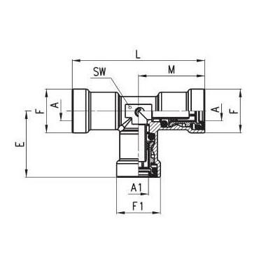 Złączka wtykowa C-TRUCK trójnik model 9540