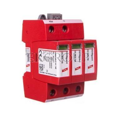 Ogranicznik przepięć C Typ 2 3P 15kA 3kV ( napiecięcie znamionowe warystora Umov = 750V AC,  do IT 500) DEHNguard M WE 600 FM 95