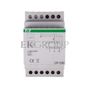 Ogranicznik przepięć D z potrójnym filtrem przeciwzakłóceniowym 2P 1kV OP-230-216829