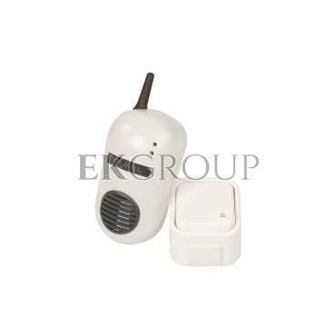 Dzwonek bezprzewodowy BULIK 230V zestaw hermetyczny zasięg 150m DRS-982H SUN10000006-215568
