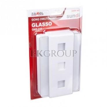 Gong dwutonowy GLASSO 230V biały GNS-248-BIA SUN10000115-215863