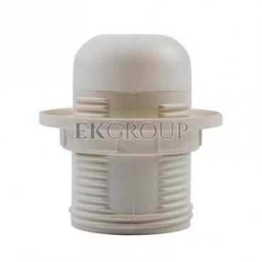 Oprawka E27 izolacyjna z gwintem zewnętrznym biała OTE27-01/0/T-200546