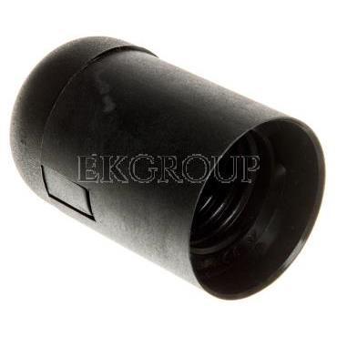 Oprawka izolacyjna FOBOS E27 z płaszczem gładkim czarna OTE27-03/2/T-200584