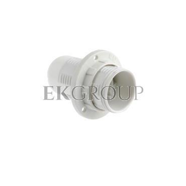 Oprawka E14 izolacyjna z gwintem zewnętrznym biała OTE14-01/0-200553