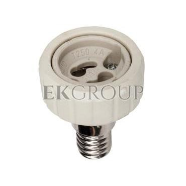 Przejściówka E14 na GU10 ceramiczna HLDR-E14/GU10 08851-200563