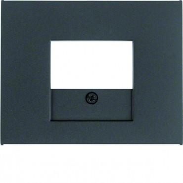 K.1 Element centralny do gniazda ładowania USB, TAE i głośnikowego antracyt mat lakierowany 10357006