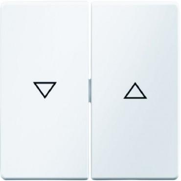 Berker/Q.1 Klawisz 2-krotny z nadrukiem symbolu 'strzałka' biały aksamit 16256089