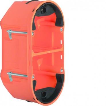 Berker TS Puszka podtynkowa podwójna do sensorów dotykowych 68x136x76mm pomarańczowa 1870
