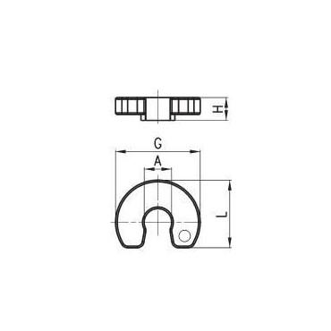 Pierścień odpinający przewody C-TRUCK model DRK