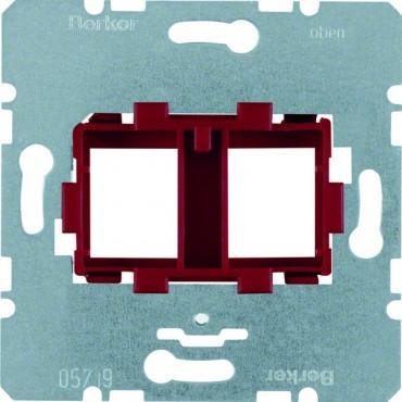 Berker R.1/R.3 Płytka nośna z czerwonym elem.mocujacym podwójna 454101