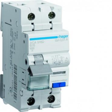 Wyłącznik różnicowo-nadprądowy 2P 16A B 0,01A typ A ACA916D