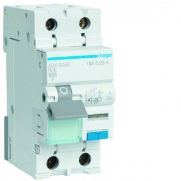 Wyłącznik różnicowo-nadprądowy 2P 6A B 0,03A typ A ADA906D
