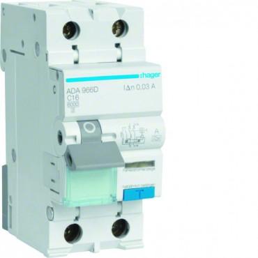 Wyłącznik różnicowo-nadprądowy 2P 16A C 0,03A typ A ADA966D